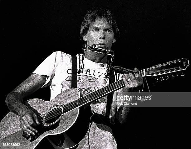 Singer/Songwriter Neil Young 'Rust Never Sleeps' tour stop at The OMNI Coliseum in Atlanta Georgia October 10 1978