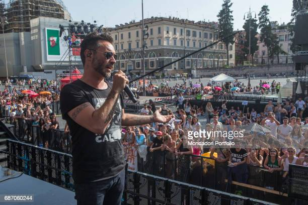 Singersongwriter Nek during the rehearsal of CocaCola Summer Festival Rome Italy 23rd June 2016