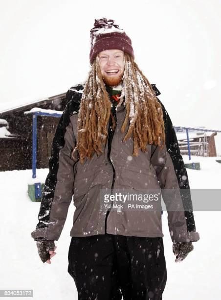 Singersongwriter Newton Faulkner relaxes in the Swiss ski resort of Gstaad a day after performing a Virgin Radio session gig in a hot air balloon...