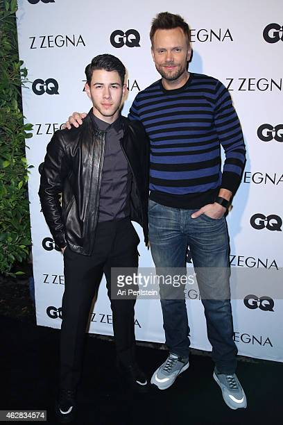 Singer/Songwriter Nick Jonas and actor Joel McHale arrive at Z Zegna GQ Celebrate The New Z Zegna Collection Hosted By Nick Jonas at Philymack...