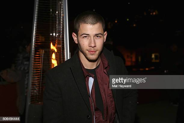 Singersongwriter Nick Jonas attends NYLON Dream Hotels Apres Ski at Sundance Film Festival on January 23 2016 in Park City Utah