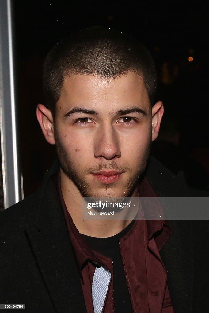 Singer-songwriter Nick Jonas attends NYLON + Dream Hotels Apres Ski at Sundance Film Festival on January 23, 2016 in Park City, Utah.