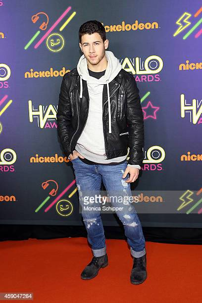 Singersongwriter Nick Jonas attends the 2014 Nickelodeon HALO Awards at Pier 36 on November 15 2014 in New York City