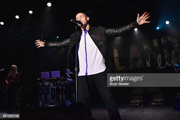 Singersongwriter Nick Jonas performs onstage during the Island Records and Marriott Rewards presentation of ISLAND LIFE featuring Nick Jonas Shawn...