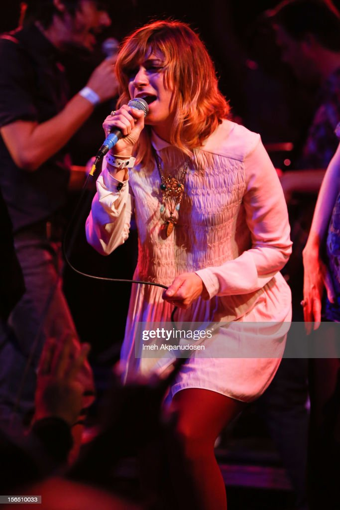 Singer/songwriter Nicole Atkins performs onstage singing 'Free Fallin'' at the first ever Jameson Petty Fest West at El Rey Theatre on November 15, 2012 in Los Angeles, California.