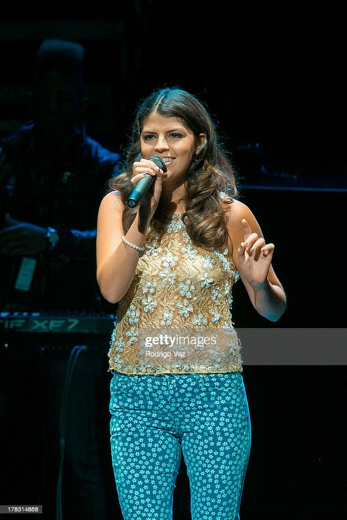 Singer/songwriter Nikki Yanofsky performs at Gibson Amphitheatre on August 28 2013 in Universal City California