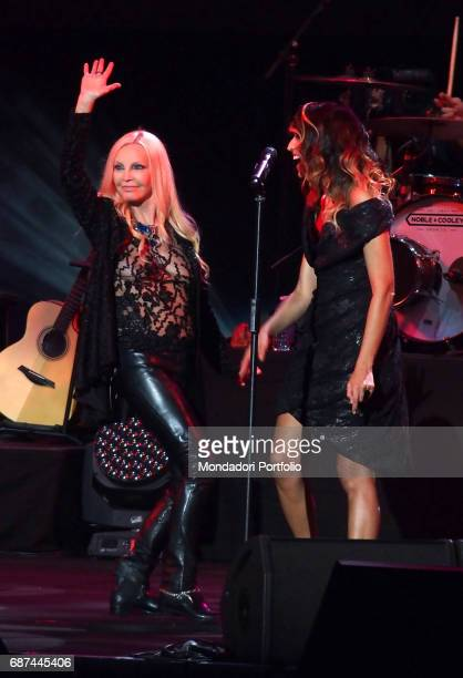 Singersongwriter Nina Zilli and singer Patty Pravo performing during Amiche in Arena a concert against femicide and violence against women conceived...