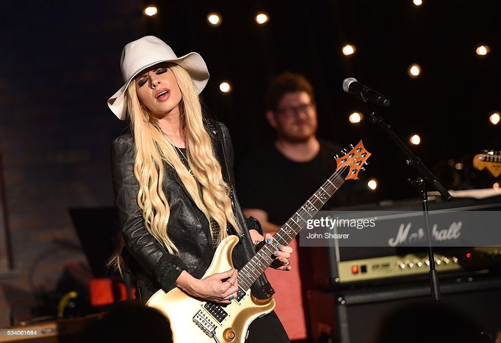 Singer-songwriter, <a gi-track='captionPersonalityLinkClicked' href=/galleries/search?phrase=Orianthi&family=editorial&specificpeople=4436929 ng-click='$event.stopPropagation()'>Orianthi</a> performs during Skyville Live presents Billy Gibbons with Frankie Ballard, <a gi-track='captionPersonalityLinkClicked' href=/galleries/search?phrase=Orianthi&family=editorial&specificpeople=4436929 ng-click='$event.stopPropagation()'>Orianthi</a>, ZZ Ward and Mike Henderson on May 24, 2016 in Nashville, Tennessee.