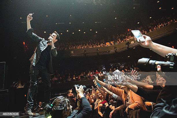 Singersongwriter Pat Monahan of Train performs in concert at ACL Live on December 16 2014 in Austin Texas