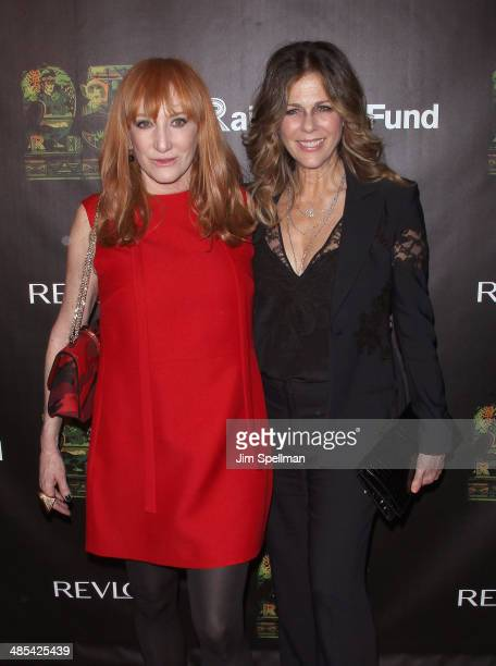 Singer/songwriter Patti Scialfa and actress Rita Wilson attend the 25th Anniversary Rainforest Fund Benefit at Mandarin Oriental Hotel on April 17...