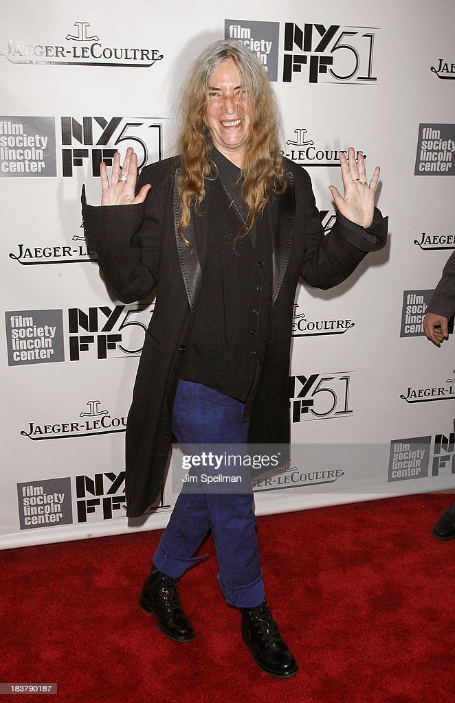 Singer/songwriter <a gi-track='captionPersonalityLinkClicked' href=/galleries/search?phrase=Patti+Smith+-+Godmother+of+Punk&family=editorial&specificpeople=221285 ng-click='$event.stopPropagation()'>Patti Smith</a> attends the Gala Tribute To Ralph Fiennes during the 51st New York Film Festival at Alice Tully Hall at Lincoln Center on October 9, 2013 in New York City.