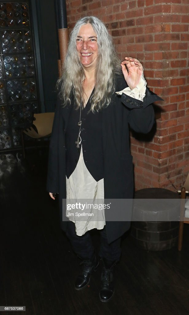 Singer/songwriter Patti Smith attends the screening after party for 'Pirates Of The Caribbean: Dead Men Tell No Tales' hosted by The Cinema Societ at Chefs Club on May 23, 2017 in New York City.