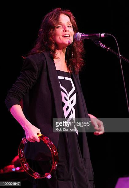 Singer/Songwriter Patty Griffin performs during the 'Music Saves Mountains' benefit concert at the Ryman Auditorium on May 19 2010 in Nashville...