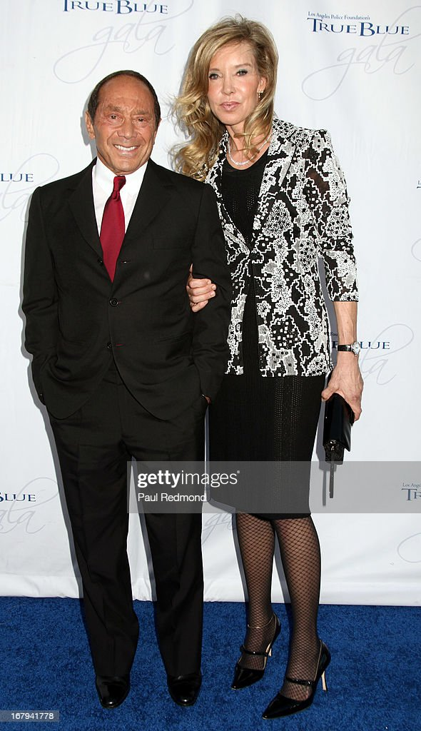 Singer/songwriter Paul Anka and Lisa Pemberton attend The Los Angeles Police Foundation's 15th Anniversary True Blue Gala at Paramount Studios on May 2, 2013 in Hollywood, California.