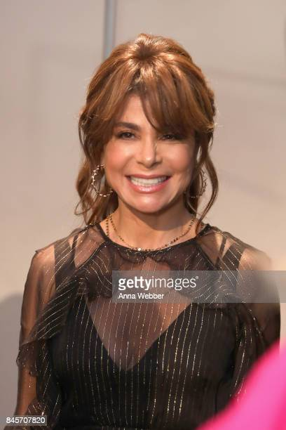Singersongwriter Paula Abdul A model prepares backstage for John Paul Ataker fashion show during New York Fashion Week The Shows at Gallery 1...