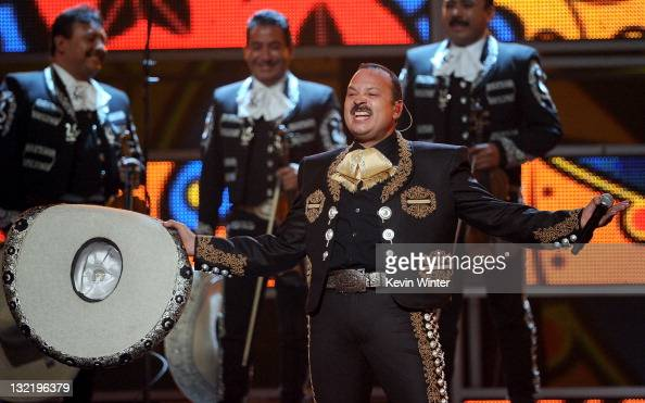 Singersongwriter Pepe Aguilar performs onstage during the 12th annual Latin GRAMMY Awards at the Mandalay Bay Events Center on November 10 2011 in...
