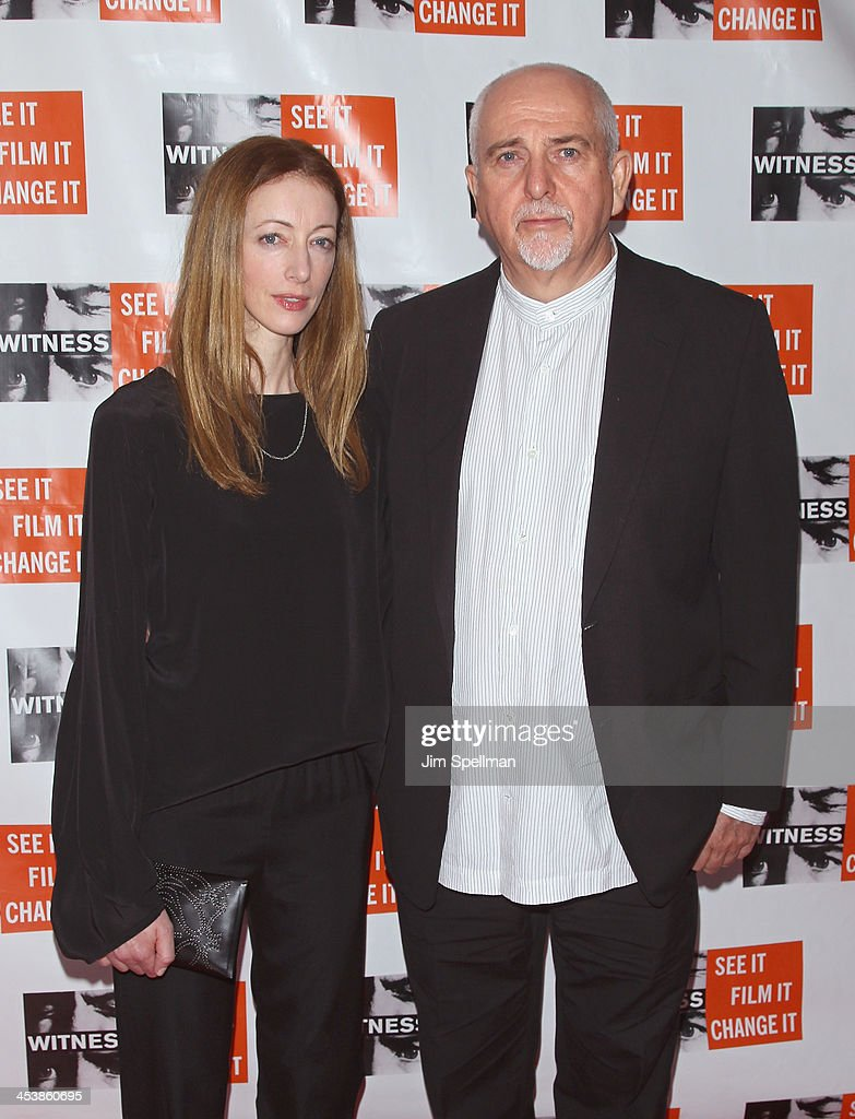 Singer/songwriter Peter Gabriel (R) and wife Meabh Flynn attend the 2013 Focus For Change gala benefiting WITNESS at Roseland Ballroom on December 5, 2013 in New York City.