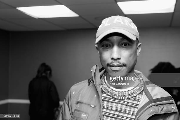 Singersongwriter Pharrell Williams attends BET Presents the American Black Film Festival Honors on February 17 2017 in Beverly Hills California