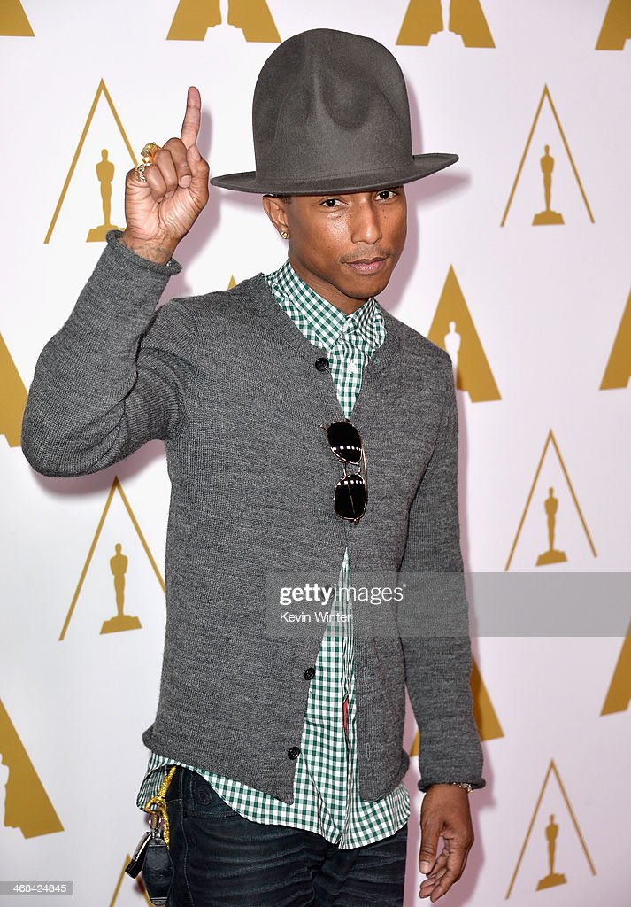 Singer/songwriter Pharrell Williams attends the 86th Academy Awards nominee luncheon at The Beverly Hilton Hotel on February 10, 2014 in Beverly Hills, California.