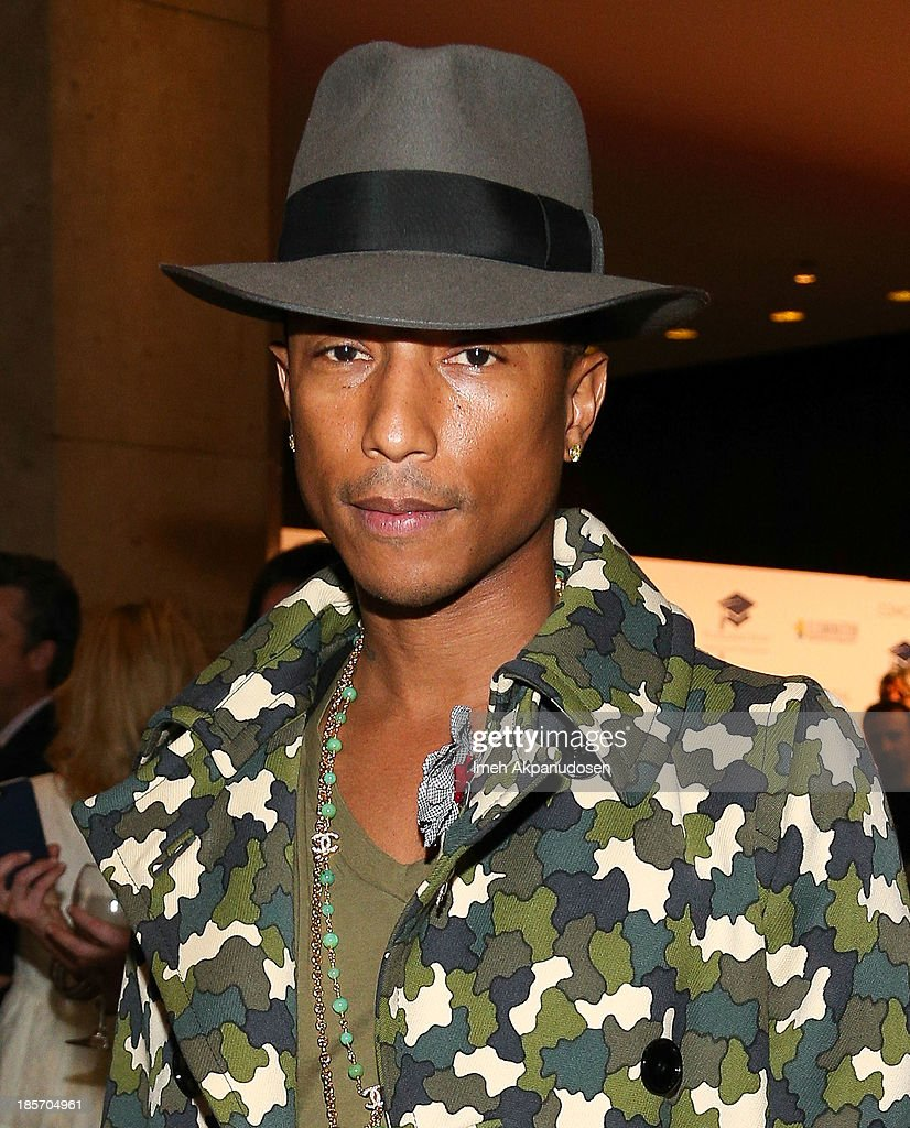 Singer/songwriter <a gi-track='captionPersonalityLinkClicked' href=/galleries/search?phrase=Pharrell+Williams&family=editorial&specificpeople=161396 ng-click='$event.stopPropagation()'>Pharrell Williams</a> attends the STARS 2013 Benefit Gala By The Fulfillment Fund at The Beverly Hilton Hotel on October 23, 2013 in Beverly Hills, California.