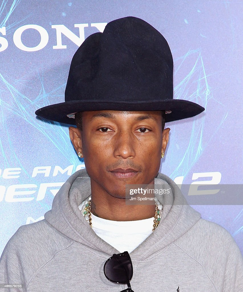 Singer/songwriter <a gi-track='captionPersonalityLinkClicked' href=/galleries/search?phrase=Pharrell+Williams&family=editorial&specificpeople=161396 ng-click='$event.stopPropagation()'>Pharrell Williams</a> attends the 'The Amazing Spider-Man 2' New York Premiere on April 24, 2014 in New York City.