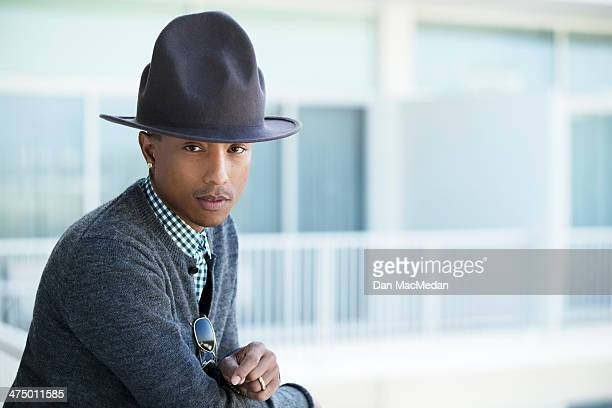 Singer/songwriter Pharrell Williams is photographed for USA Today on February 10 2014 in Los Angeles California