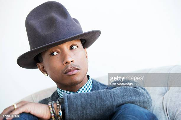 Singer/songwriter Pharrell Williams is photographed for USA Today on February 10 2014 in Los Angeles California PUBLISHED IMAGE