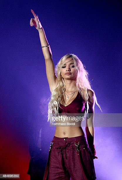 Singer/songwriter Pia Mia performs onstage at American Express UNSTAGED Artists in Residence Concert with BORNS Gavin James Pia Mia and Rae Sremmurd...
