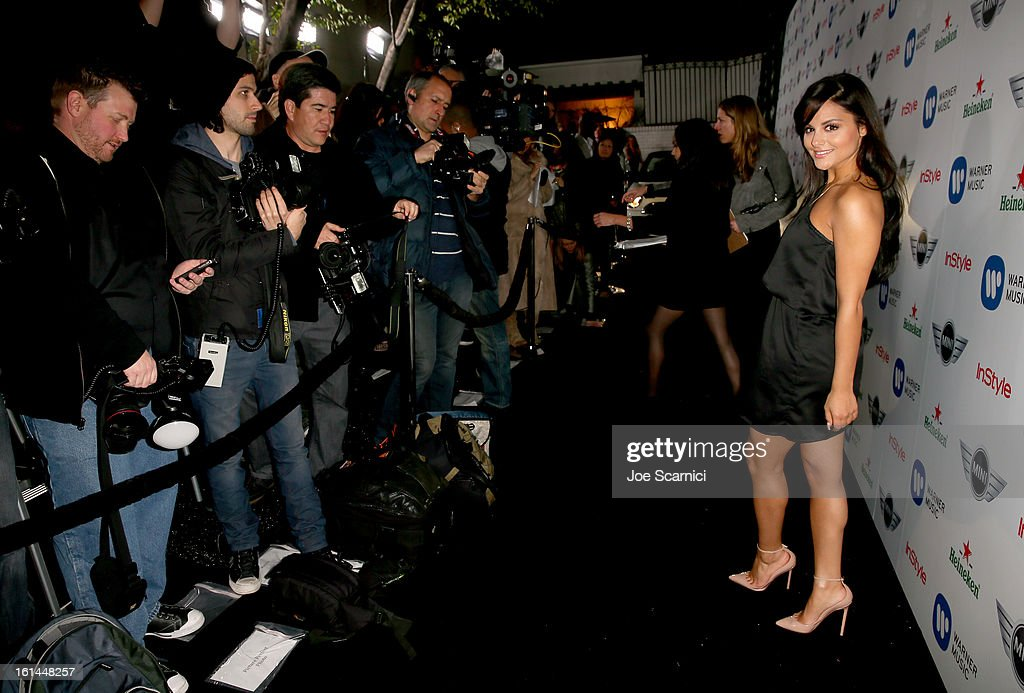 Singer/songwriter <a gi-track='captionPersonalityLinkClicked' href=/galleries/search?phrase=Pia+Toscano&family=editorial&specificpeople=7520948 ng-click='$event.stopPropagation()'>Pia Toscano</a> arrives at the Warner Music Group 2013 Grammy Celebration Presented by Mini at the Chateau Marmont on February 10, 2013 in Los Angeles, California.
