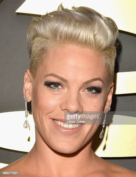 Singer/songwriter Pink attends the 56th GRAMMY Awards at Staples Center on January 26 2014 in Los Angeles California