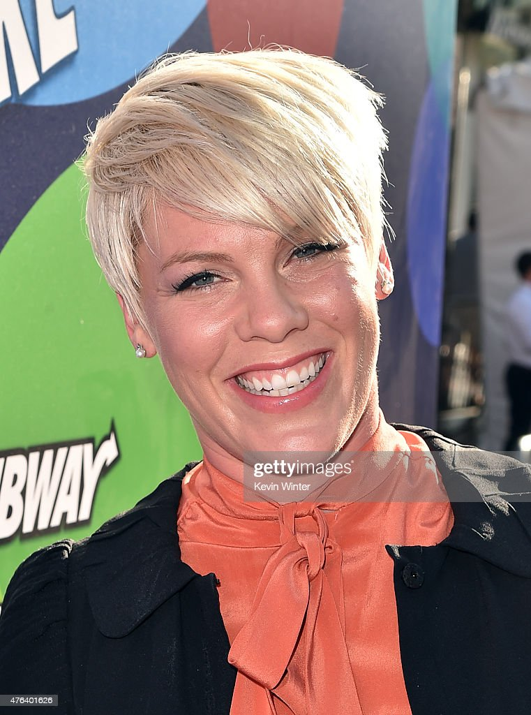 Singer/songwriter Pink attends the Los Angeles premiere of DisneyPixar's 'Inside Out' at the El Capitan Theatre on June 8 2015 in Hollywood California