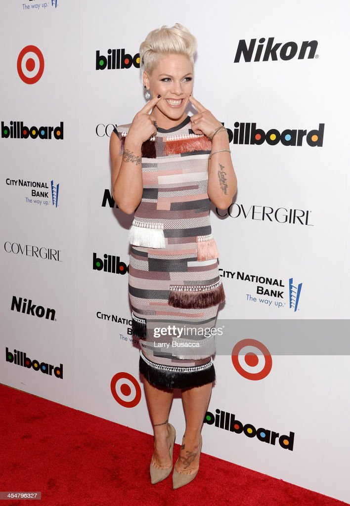 Singer-songwriter P!nk attends Billboard's annual Women in Music event at Capitale on December 10, 2013 in New York City.