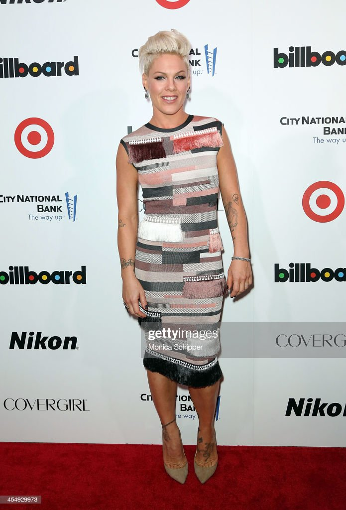Singer-songwriter P!nk attends the 2013 Billboard Annual Women in Music Event at Capitale on December 10, 2013 in New York City.
