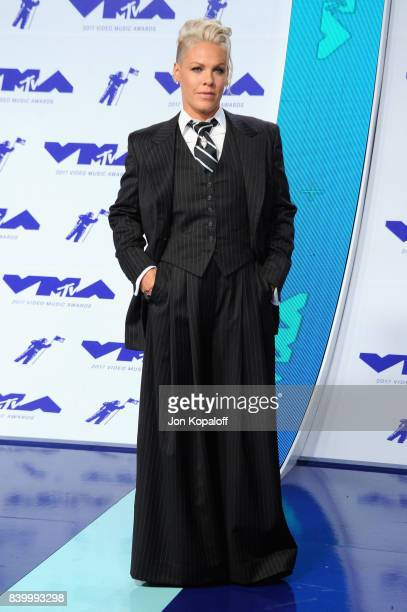 Singer/songwriter Pnk attends the 2017 MTV Video Music Awards at The Forum on August 27 2017 in Inglewood California