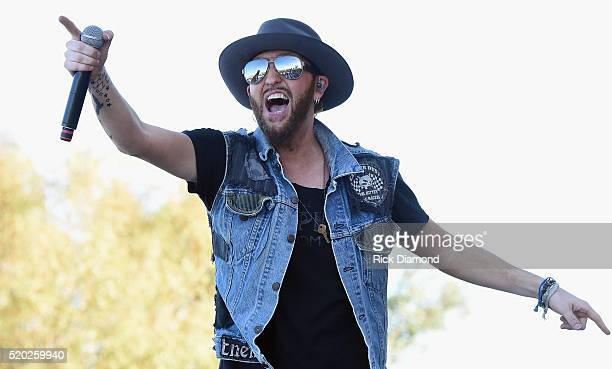 Singer/Songwriter Preston Burst of LOCASH performs at County Thunder Music Festivals Arizona Day 3 on April 9 2016 in Florence Arizona
