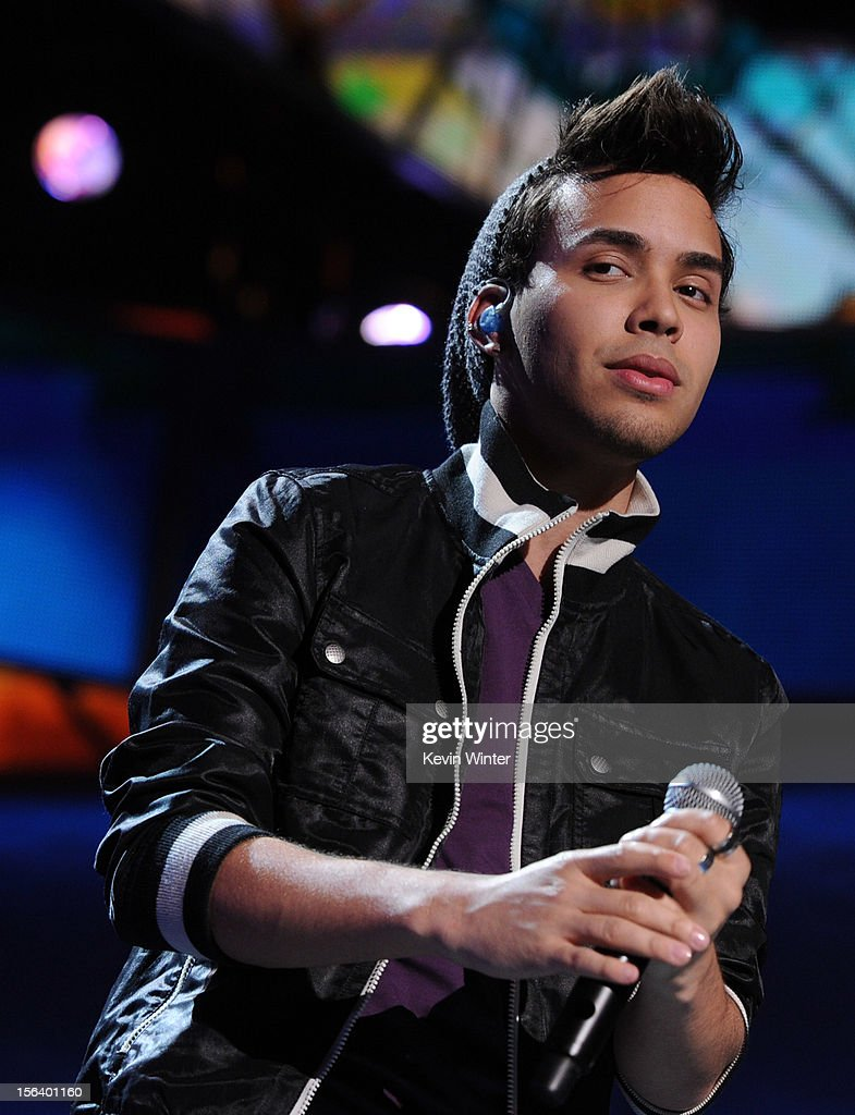 Singer/songwriter Prince Royce performs onstage during rehearsals for the 13th annual Latin GRAMMY Awards at the Mandalay Bay Events Center on November 14, 2012 in Las Vegas, Nevada.