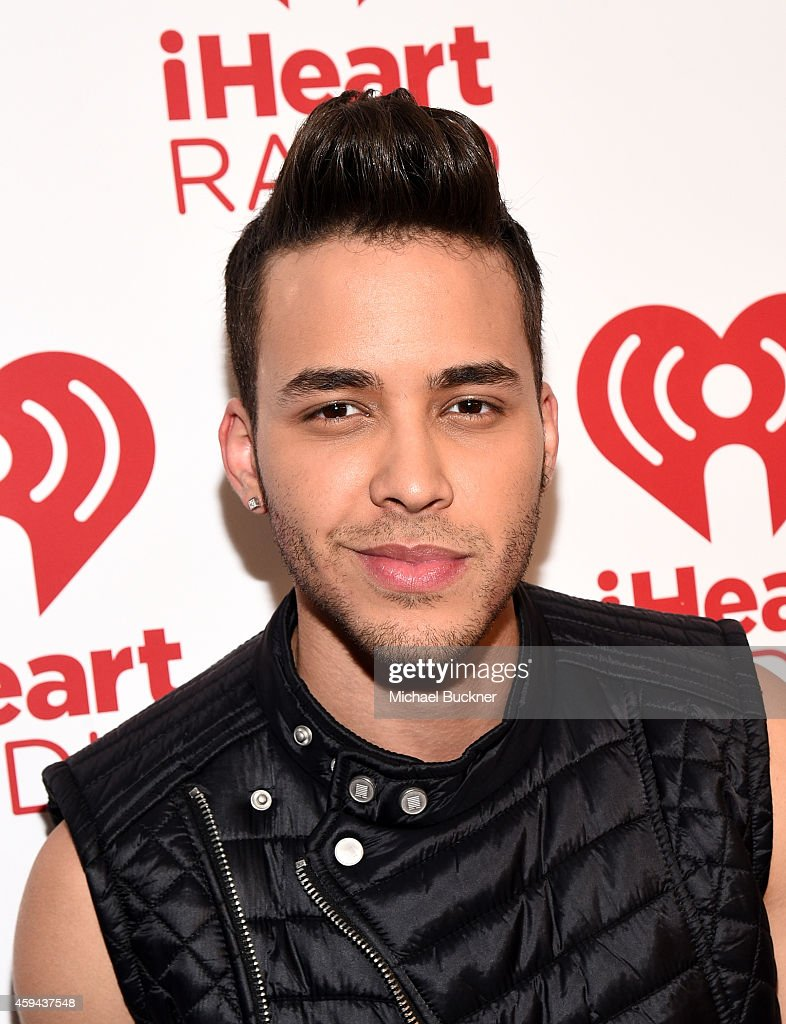 Singer-songwriter <a gi-track='captionPersonalityLinkClicked' href=/galleries/search?phrase=Prince+Royce&family=editorial&specificpeople=6918529 ng-click='$event.stopPropagation()'>Prince Royce</a> poses backstage during the iHeartRadio Fiesta Latina festival presented by Sprint at The Forum on November 22, 2014 in Inglewood, California.