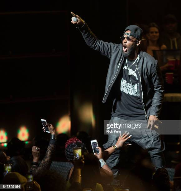 Singersongwriter R Kelly performs in concert at Bass Concert Hall on March 3 2017 in Austin Texas