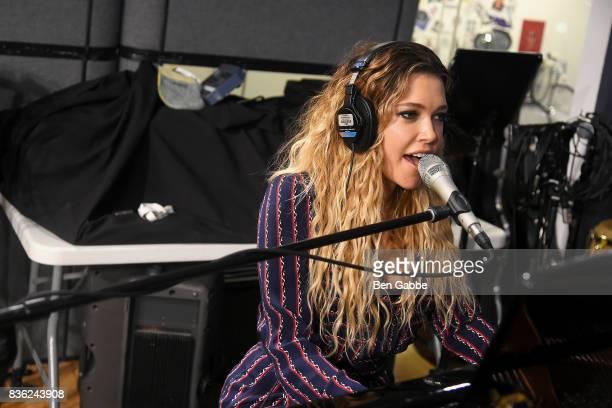 Singer/songwriter Rachel Platten performs at SiriusXM Studios on August 21 2017 in New York City