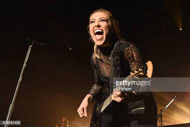 SingerSongwriter Rachel Platten performs during her 'Wildfire' tour at The Regency Ballroom on April 4 2016 in San Francisco California