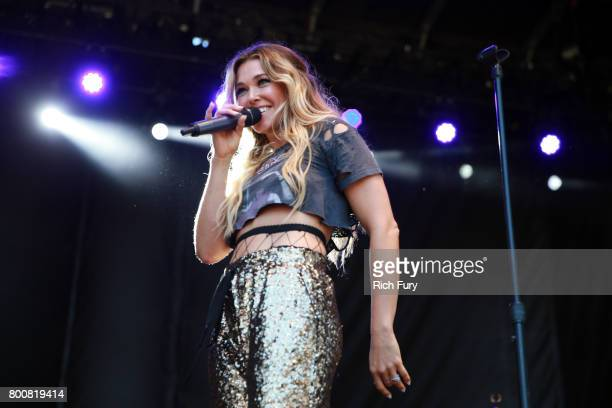 Singer/songwriter Rachel Platten performs on the Sycamore stage during Arroyo Seco Weekend at the Brookside Golf Course at on June 25 2017 in...