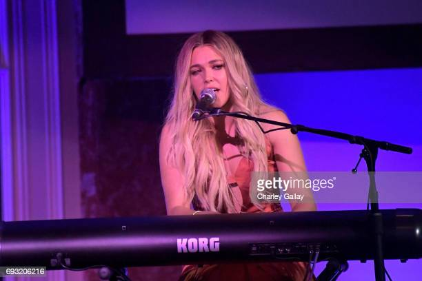 Singersongwriter Rachel Platten performs onstage during the 42nd Annual Gracie Awards hosted by The Alliance for Women in Media at the Beverly...