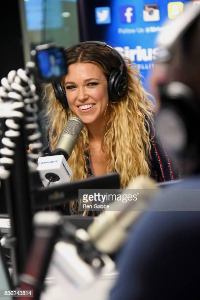 Singer/songwriter Rachel Platten visits 'The Morning Mash Up' on SiriusXM Hits 1 Channel at SiriusXM Studios on August 21 2017 in New York City