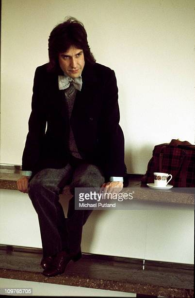 Singersongwriter Ray Davies of the Kinks at a record company office in London England 11th April 1975