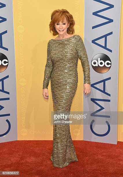 Singersongwriter Reba McEntire attends the 50th annual CMA Awards at the Bridgestone Arena on November 2 2016 in Nashville Tennessee
