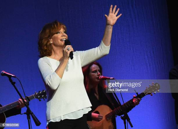 Singer/Songwriter Reba McEntire performs during Love Letters Thistle Farms Turns 20 at the Ryman Auditorium on May 3 2017 in Nashville Tennessee