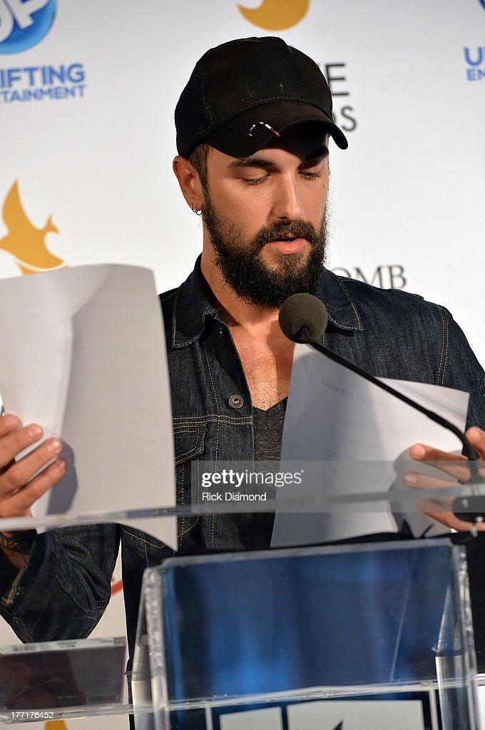 Singer/Songwriter Rhett Walker announces nominations for The 44th Annual GMA Dove Awards Nominations Press Conference at Allen Arena Lipscomb...
