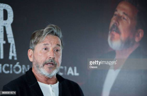 Singersongwriter Ricardo Montaner speaks during the press conference to present his new album 'Ida y Vuelta' on October 27 2017 in Mexico City Mexico...