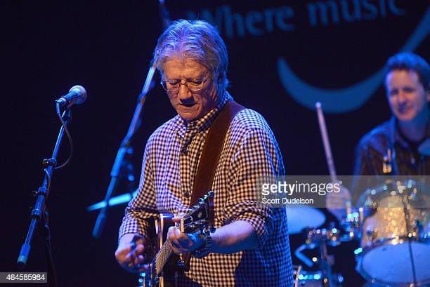 Singer/songwriter Richie Furay and singer Jesse Furay Lynch perform on stage at The Canyon Club on February 26 2015 in Agoura Hills California