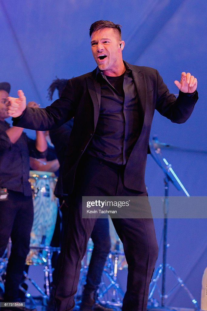 Singer-songwriter Ricky Martin performs at TWO x TWO For AIDS and Art 2016 on October 22, 2016 in Dallas, Texas.